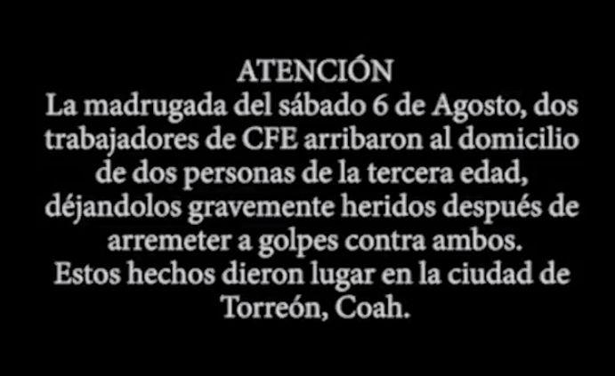 """Empleados de CFE propinan golpiza a """"Abuelitos"""""""