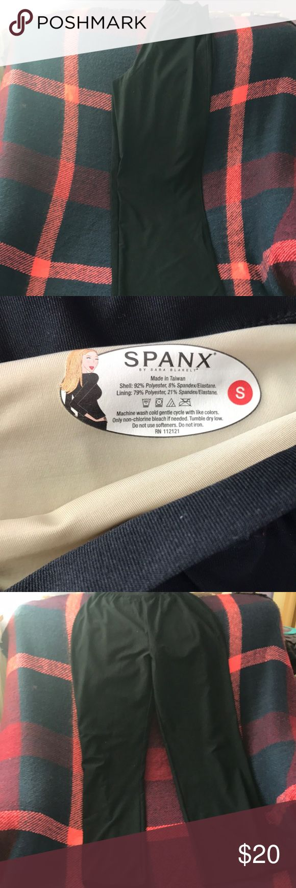 Spanks slimming bootcut pants These hard to find Spanx pants make you look great without having to wear a slimming undergarment. The inner Shapeware part extends from the waist to the knee. SPANX Pants Boot Cut & Flare