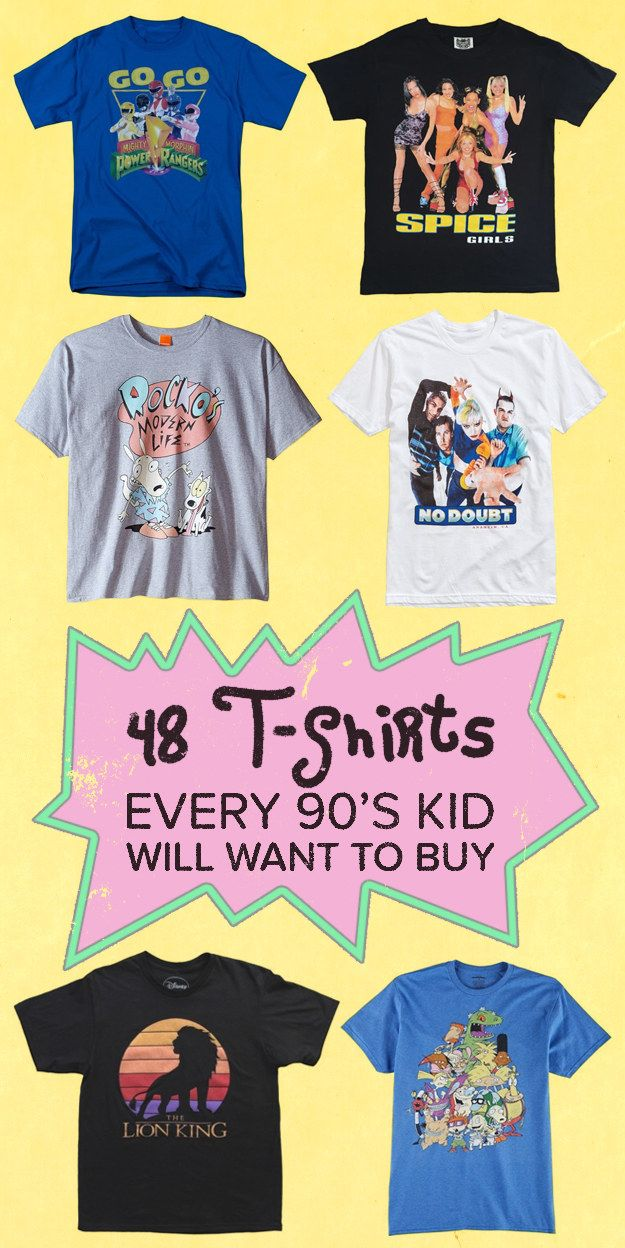 48 Amazing T-Shirts Every '90s Kid Will Want Right Now #styled247