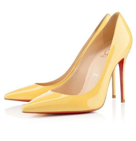Christian Louboutin Pumps 100mm Patent Leather Yellow