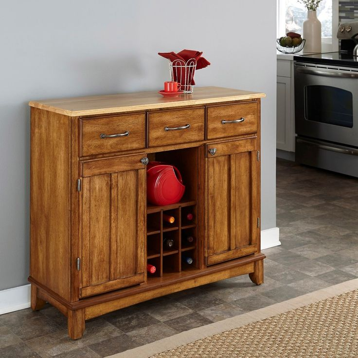 Home Styles Cottage Oak Natural Rectangular Sideboard 5100 0061