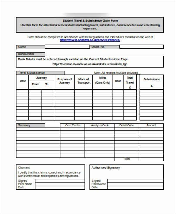 Travel Claim Form Unique 32 Claim Forms In Word Free Word Document Ms Word Contract Template
