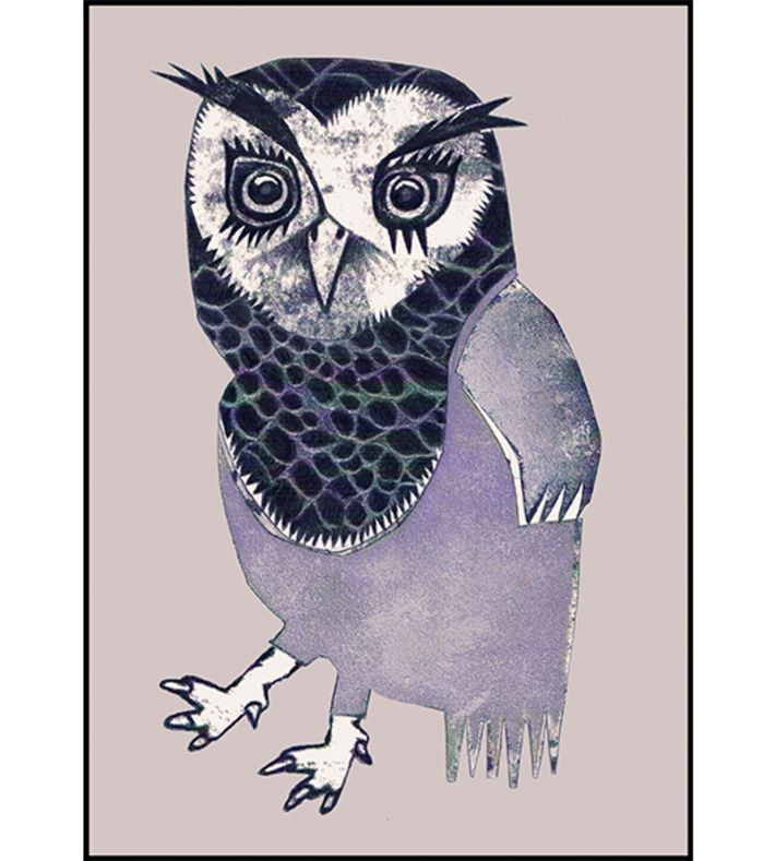 Wise owl by Monika Petersen