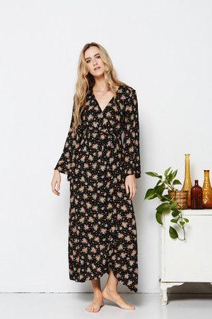 Tree of Life | Elyse Wrap Dress | Long sleeve floral wrap dress