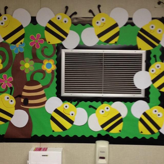 Making use of dead wall space-Bee bulletin board