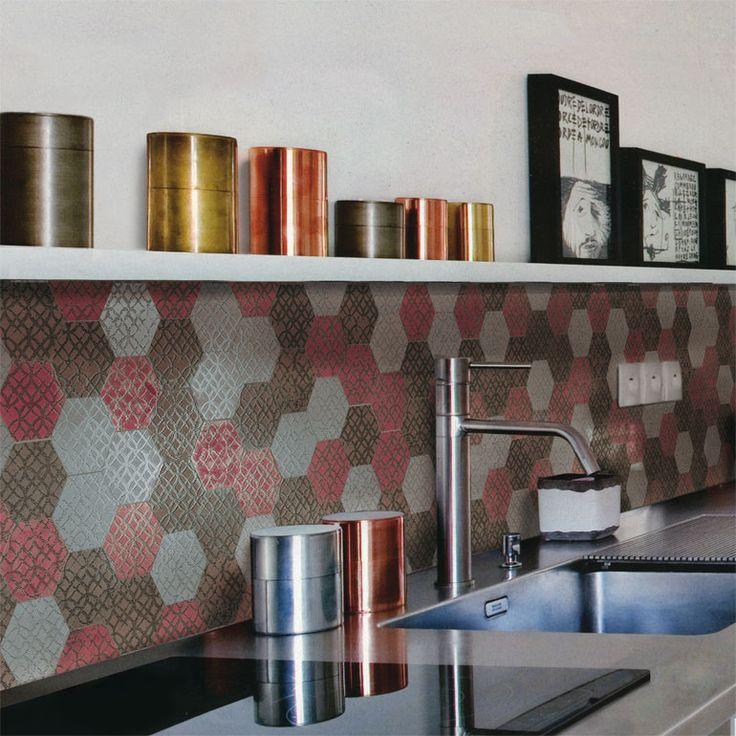 """ETRO Mosaico Esagono Mix04 30X35/12""""X14"""""""