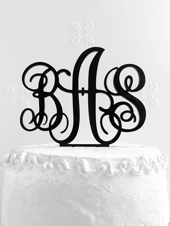 Monogram Wedding Cake Topper  Wedding Cake Topper  Bridal