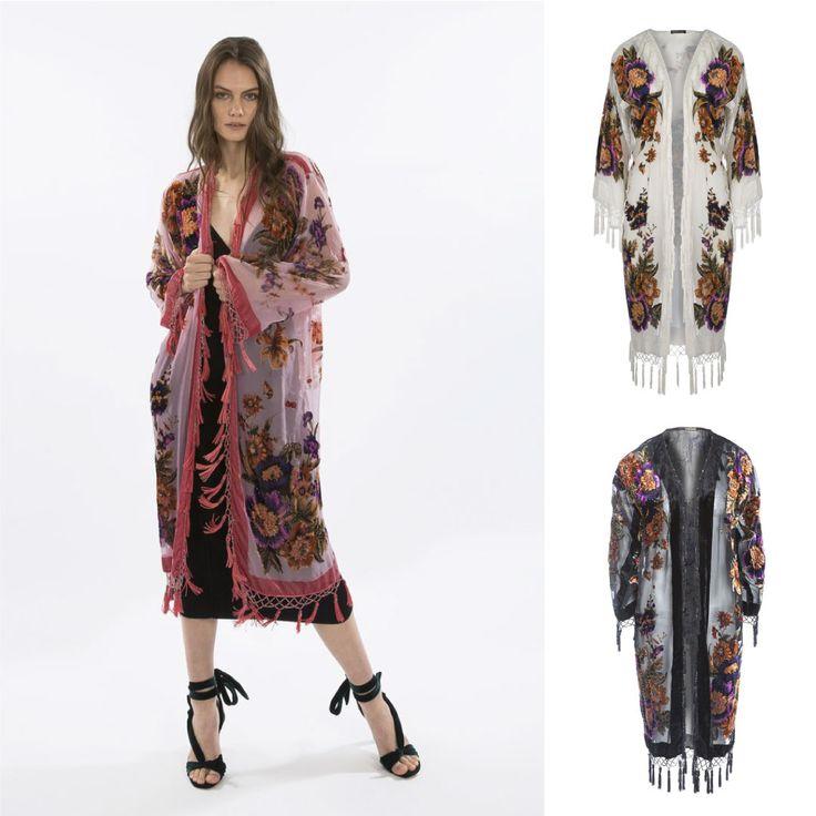 Silk Devore Kimono