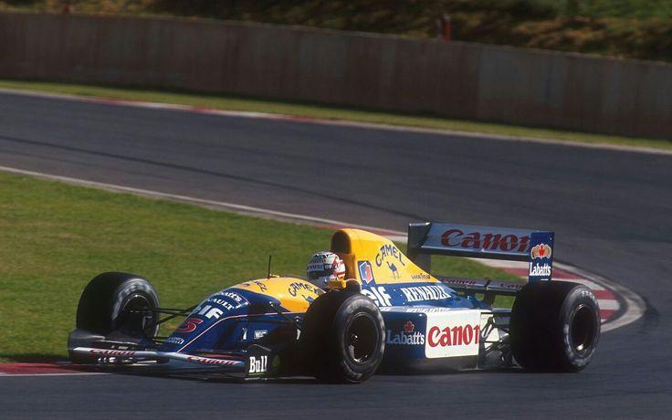 Nigel Mansell                                WILLIAMS  FW14B                        RENAULT  RS3C/RS4  (NA 3.5L-V10)