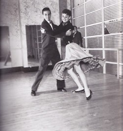 My husband must swing dance.