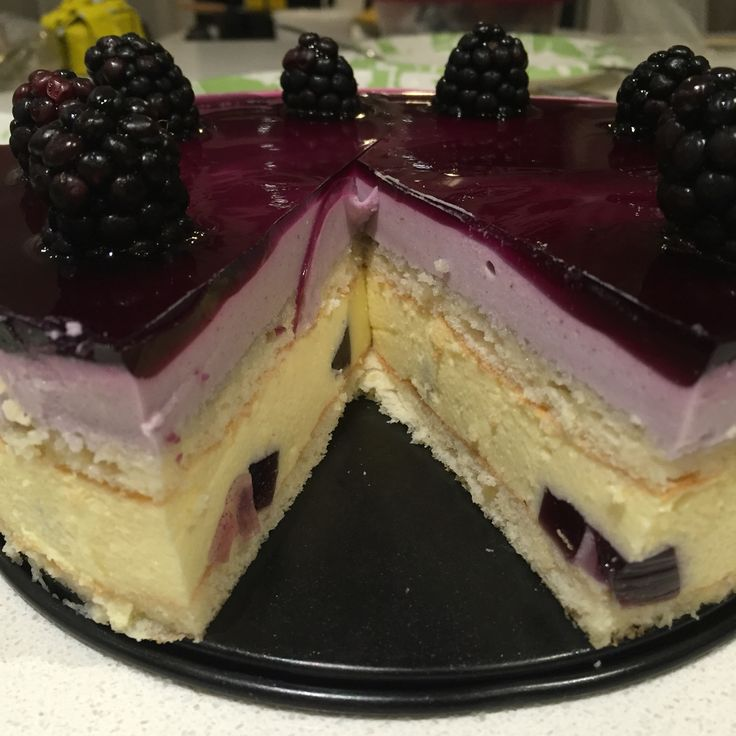A #french #entrement - #blueberry #lavender mousse cake