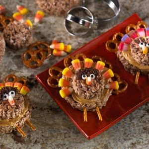 Turkey rice Krispie treats