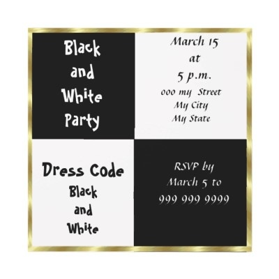 112 best images about Sweet 16 – Black and White Themed Party Invitations