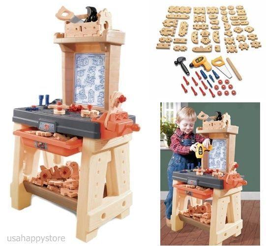 Step2 Kids Pretend Play Set Workshop Tool Children Activity Craftsman Workbench #Step2