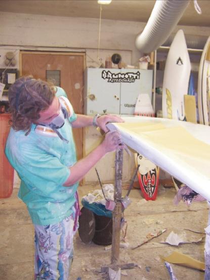 Our other boardshaper Jeroen (picture taken in 2003)
