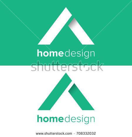 Vector green home logo design. Real estate agent or company logo illustration eps.10