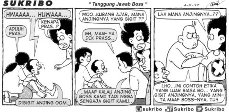 SUKRIBO - Tanggung Jawab Boss -  Karya: Faisal Ismail -  Sumber: Kompas Minggu - 5 Februari 2017