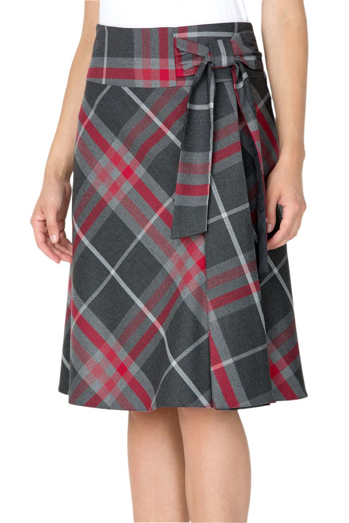 …with any kind of wrap skirt.