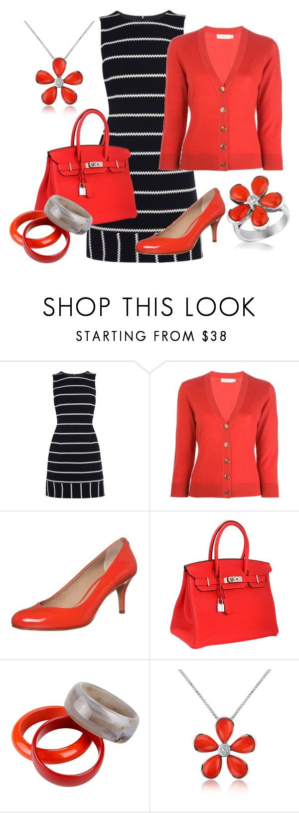 """Red-Pops!"" by theapatricia ❤ liked on Polyvore featuring Karen Millen, Tory Burch, Cosmoparis, Hermès, 8 and Del Gatto"