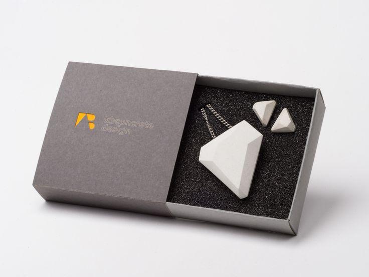 Geometric Concrete Design Jewelry Set by AB concrete design