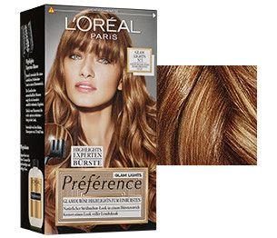 Strähnchen selber färben: Entdecken Sie Préférence Glam Lights von L'Oréal Paris. Strahlend blonde Haare voller Leuchtskraft, wie von der Sonne geküsst