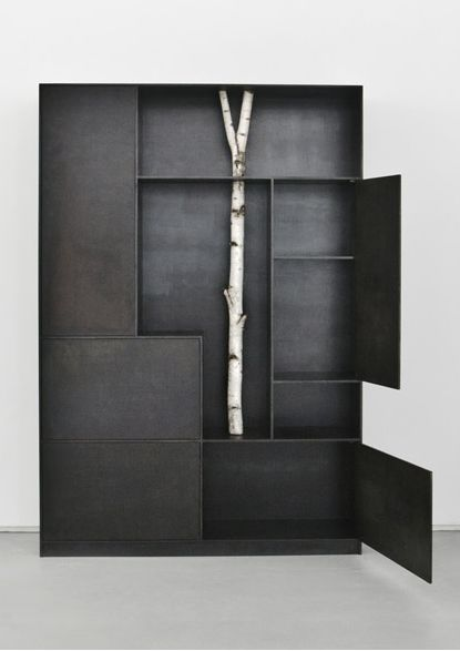 292 best images about twigs on pinterest for Tree shelving unit