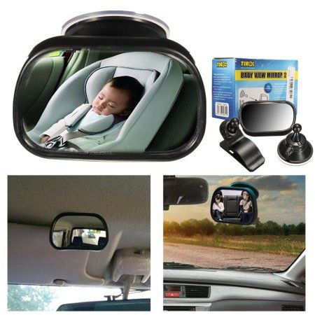 TIROL® Genuine T22614 Universal Adjustable Car Interior Rear View Mirror Suction Blind Spot Windscreen Baby Car Mirror baby back Seat Convex Mirror Rear Facing Easily See