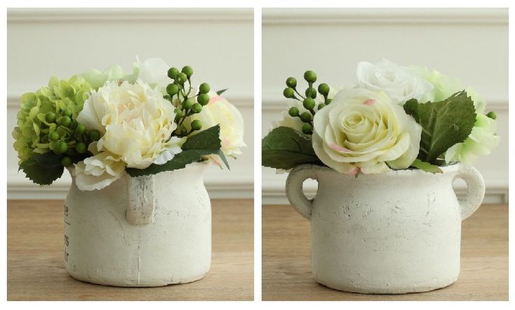 Lux Artificial Flowers In Vase For Sale Online