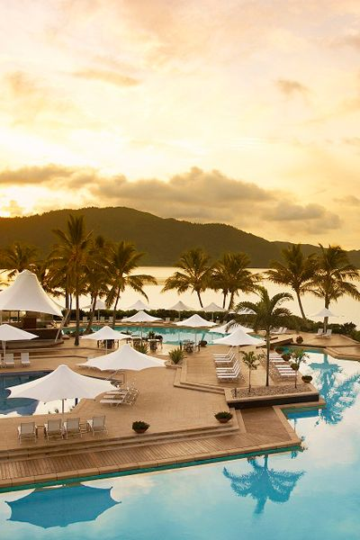 Just off Australia's Queensland coast in the Great Barrier Reef-fringed Whitsundays chain, Hayman Island's resort combines the best of luxury digs and pristine nature.