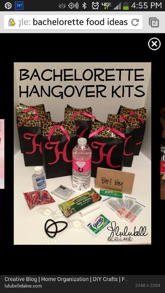 Great bachelorette party gift idea! Just replace the Advil with Restore & Renew from Hangover Lab! :)