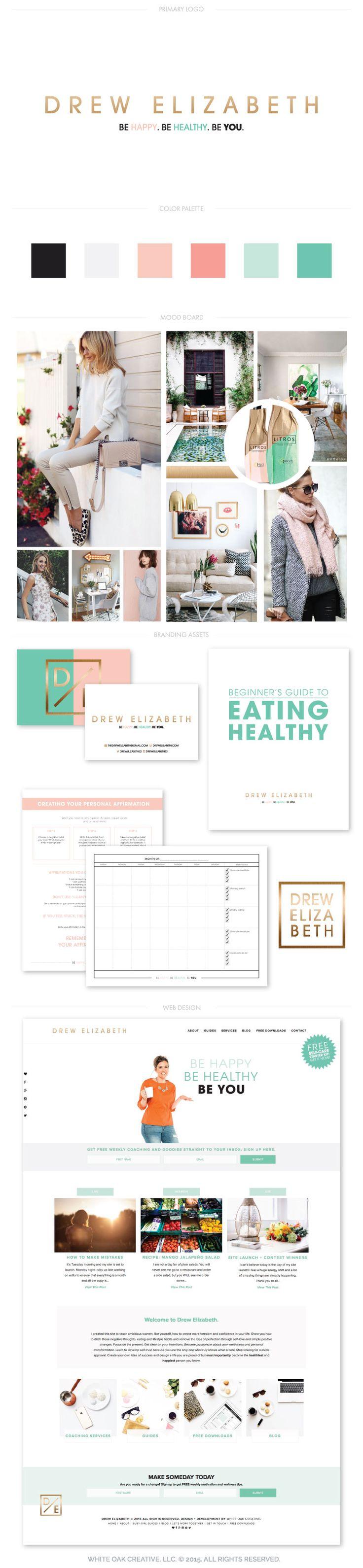 Branding + web design for Drew Elizabeth, logo design, branding, brand identity, brand strategy