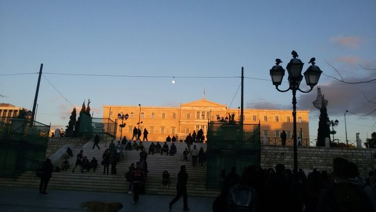syntagma square - athens - greek parliament