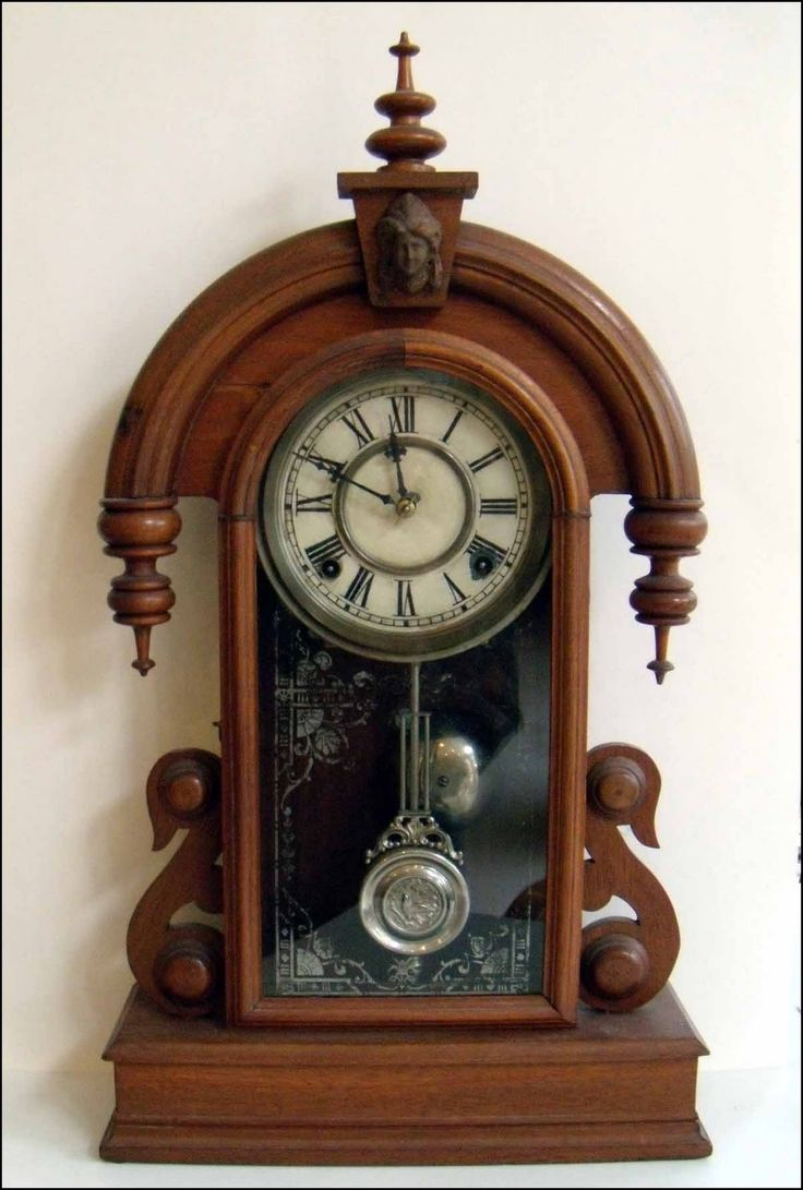 Vintage industrial clock double sided factory clock brilli 233 - Her Many Antique Clocks Would Often Chime Off The Hour