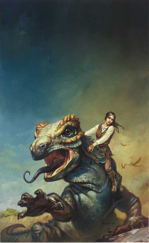 Girl and Dragon by James Gurney