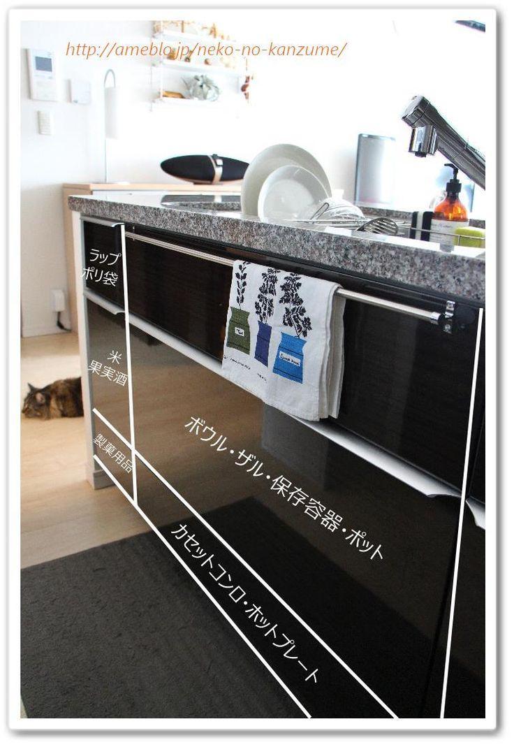 キッチン用品の収納場所 ● 動線を考える  メグメグの好奇心♪♪ 収納インテリア Ameba (アメーバ)