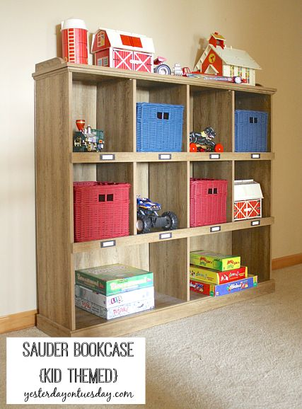 Styling a Sauder Bookcase | Yesterday On Tuesday
