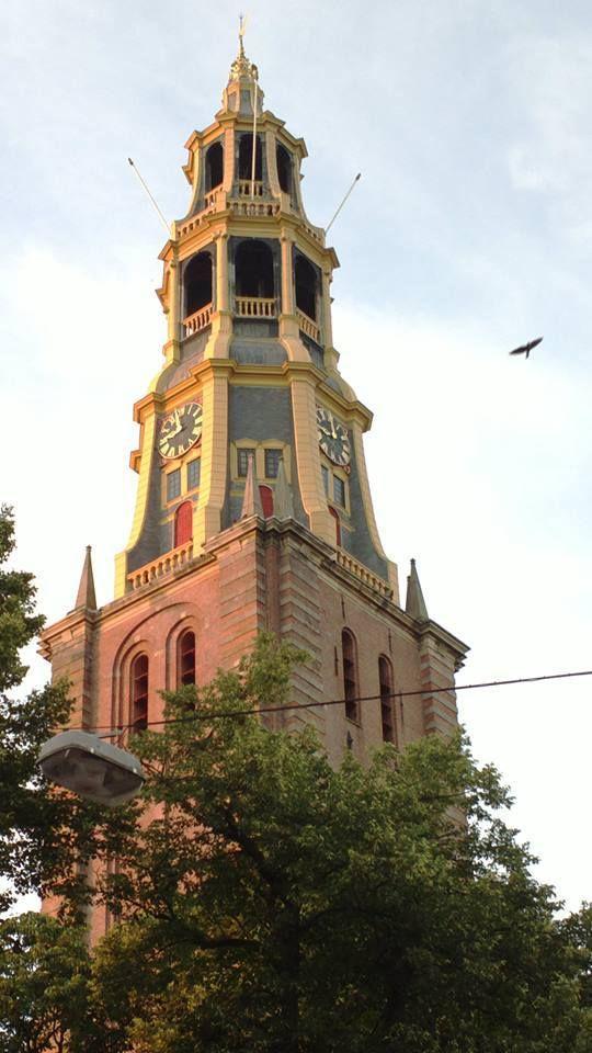 De toren van de Der Aa-kerk, Groningen.