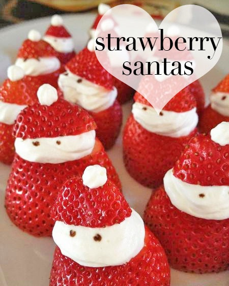 Easy, peasy Strawberry Santas! Ah, #Christmas. <3
