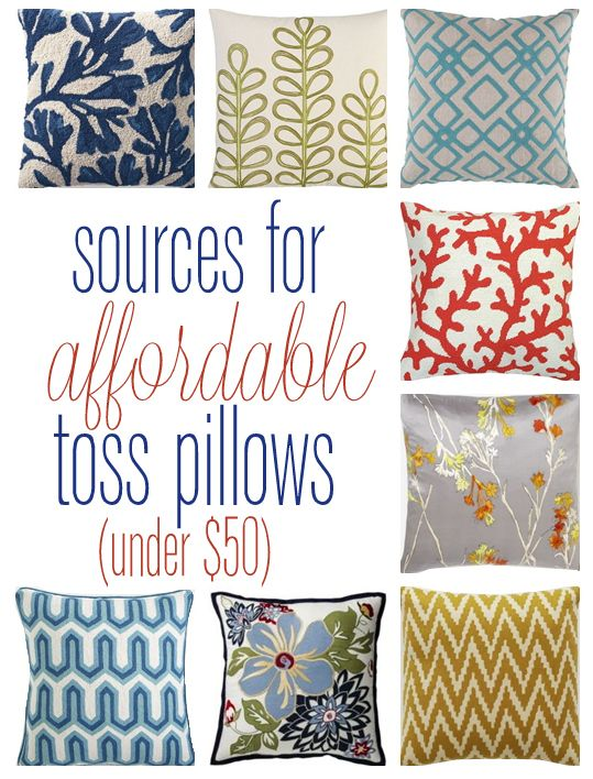 Favorite Sources for Affordable Pillows