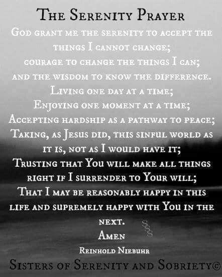 Full Serenity Prayer...