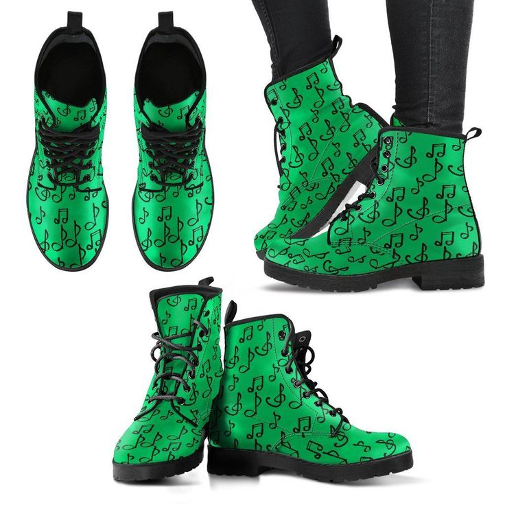 Now trending: Green Notes Shoes. Womens Leather Boots http://oompah.shop/products/green-notes-shoes-womens-leather-boots