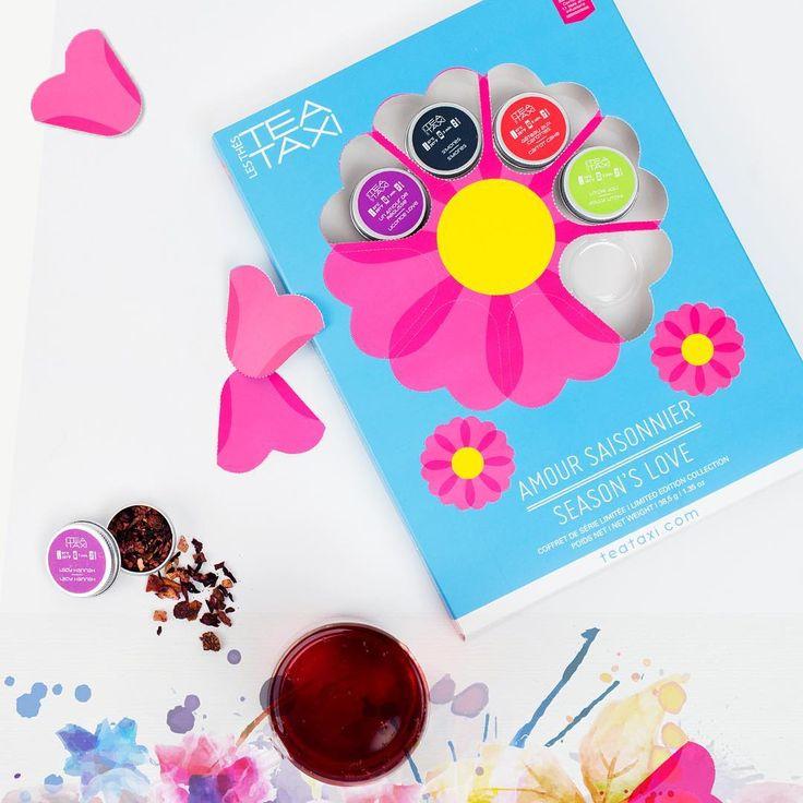 Il m'aime! Coffret amour saisonnier. <3 #tea #fleurs #the #flowers #teataxi #amoursaisonnier