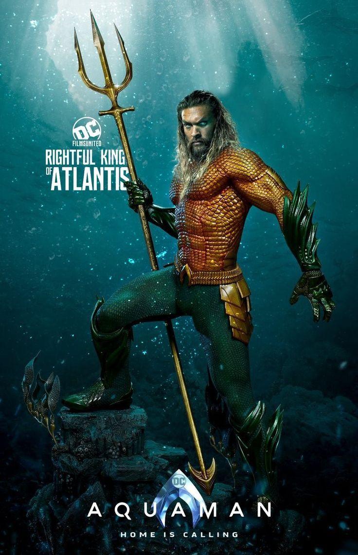 Aquaman Jason Momoa Justice League Silk poster wallpaper 24 X 13 inches