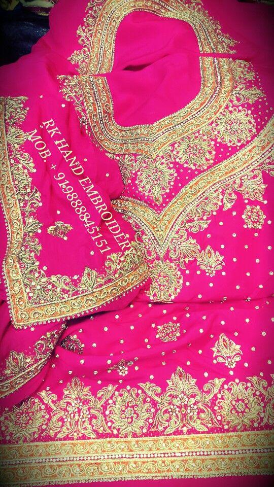 Designer Royal Hand Work Punjabi Suits Rk Hand Embroidery Patiala