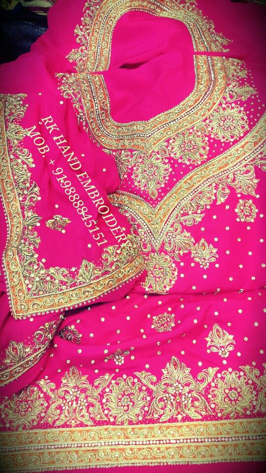 Designer royal hand work punjabi suits rk