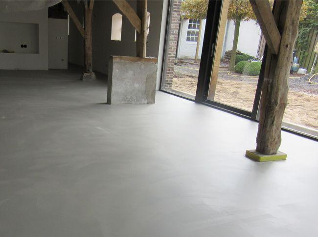 Fotogalerij @www.BerkersVloeren.nl en www.Totaal-Betonlook.NET Industriële betonnen vloer - uniek woonbeton