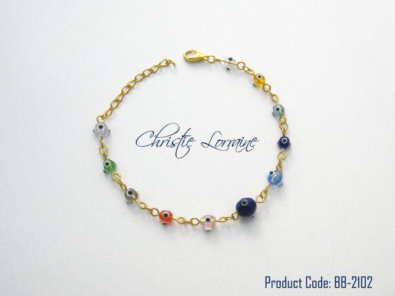 Multicolor Fashionable Evil Eye Bracelet by CHRISTIELORRAINE, $11.90