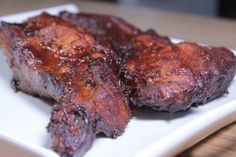 Smoked Pork Steaks And Country Style Ribs With Pork Steaks, Rub, Sauce, Honey, Jelly