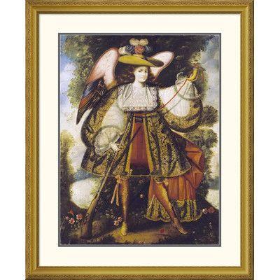 "Global Gallery 'Arcangel Con Arcabuz' by Cuzco School Framed Graphic Art Size: 40"" H x 32.7"" W x 1.5"" D"