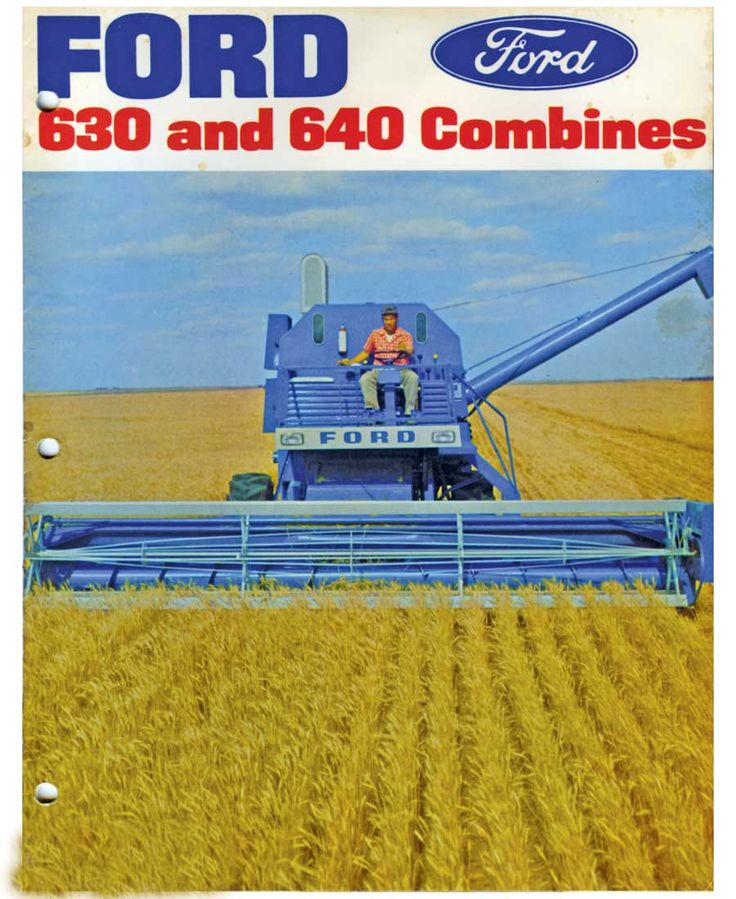 ford combines | Circa-1970s Ford combine brochure cover